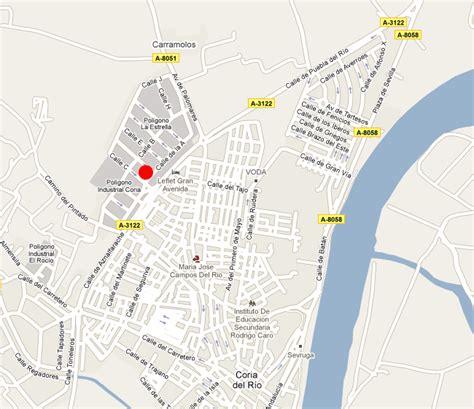 mapa coria callejero de coria c 243 digo postal 41100