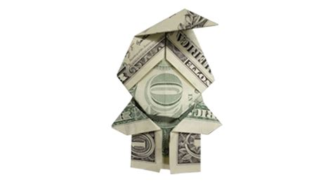 origami money christmas how to fold a money origami santa claus