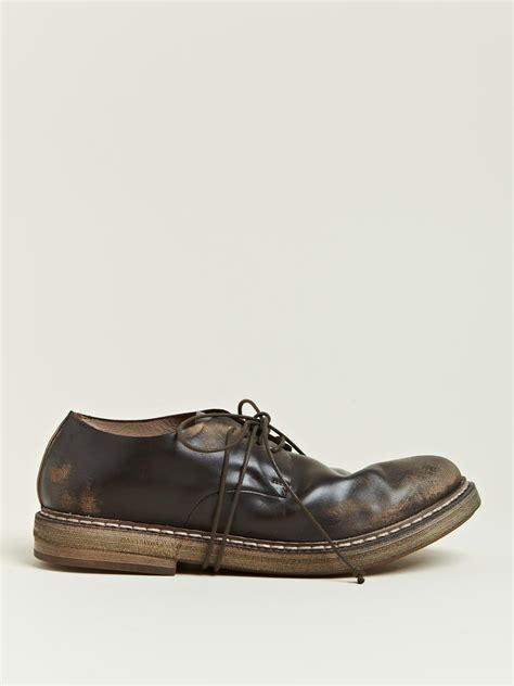marsell shoes mars 232 ll marsell mens cerata derby shoes in brown for