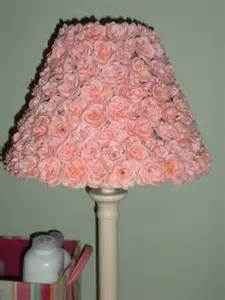 pottery barn style pink rose lamp shade
