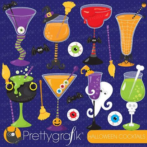 halloween martini clipart halloween cocktails costume clipart by prettygrafikdesign
