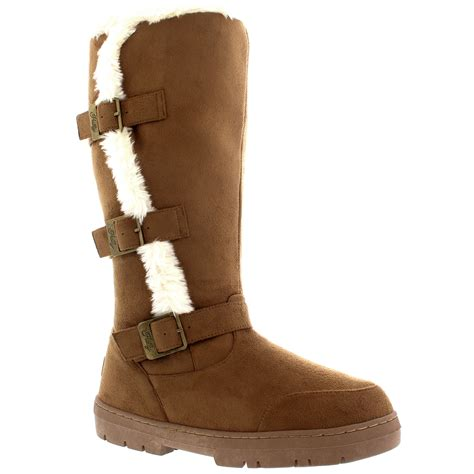 Snowball Box Winter Import Qmr6 knee high waterproof snow winter warm fashion fur lined boots all sizes ebay