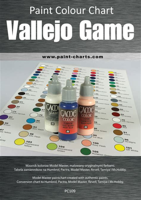 paint colour chart vallejo color 12mm pjb pc109