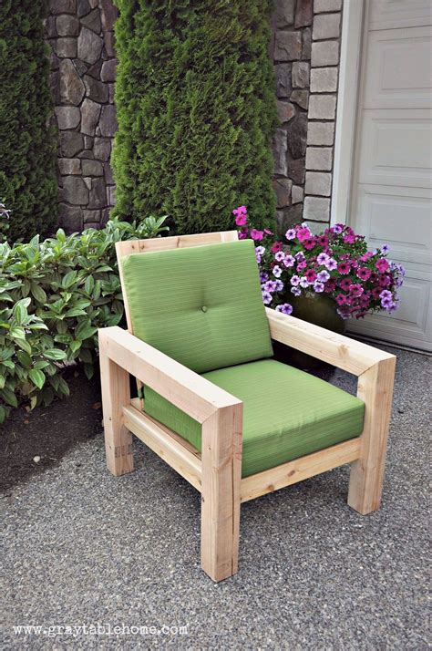 diy modern rustic outdoor chair plans  outdoor