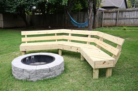 firepit backyard backyard pit and bench