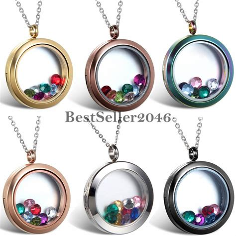 living memory floating charms glass locket
