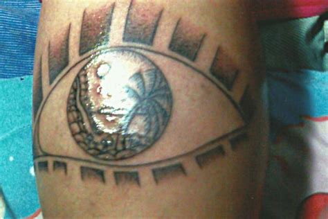 tribal thong tattoo eye sea the big magic koh phangan thailand