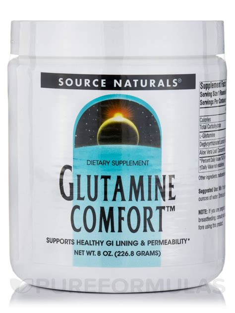 comfort source glutamine comfort 8 oz 226 8 grams