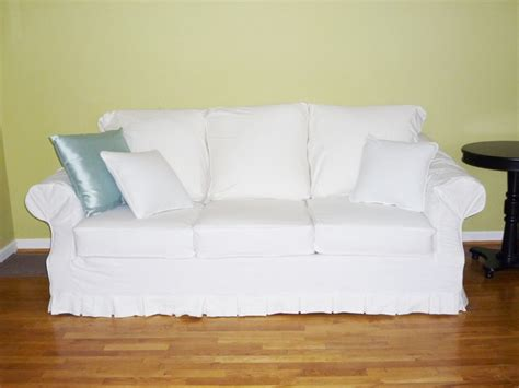 Sofa Slipcover White White Denim Sofa Slipcover