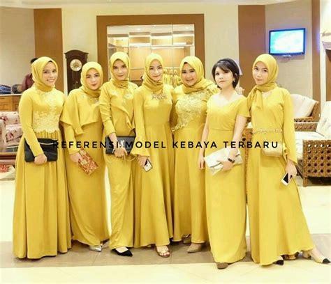 seragam model bridesmaid kuning specialist kebaya gaun