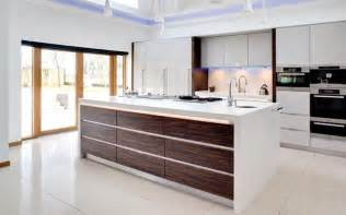 designed kitchens designer kitchen white macassar