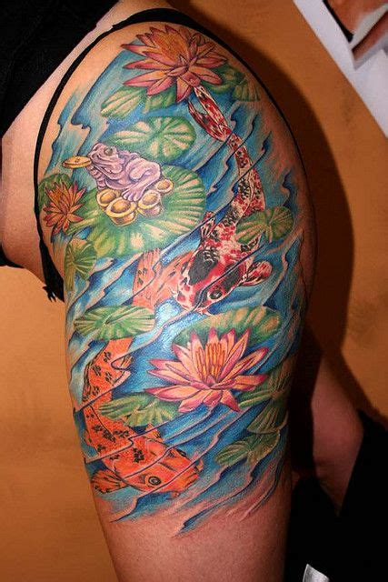 pond tattoo designs the flowers lotus shoulder tattoos and pond ideas on