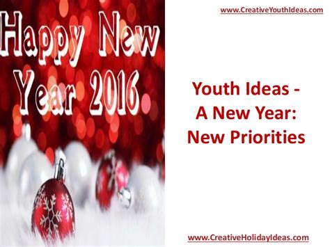 new year performance ideas youth ideas a new year new priorities