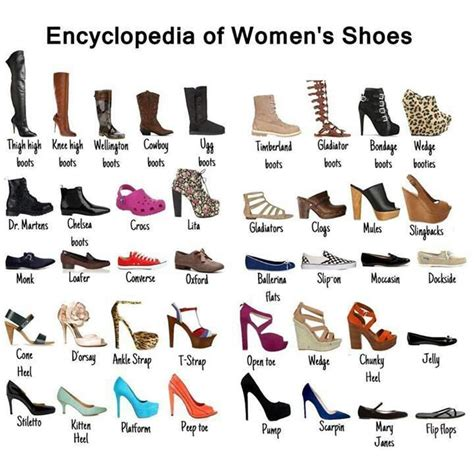 kinds of shoes for different of shoe their names shoe