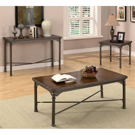 mission style occasional tables mission style occasional table set coaster furniture