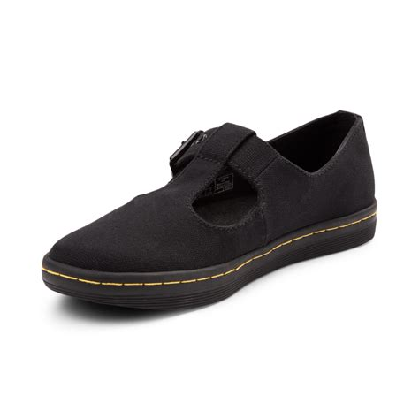 womens dr martens shoes womens dr martens woolwich t bar casual shoe black 569416