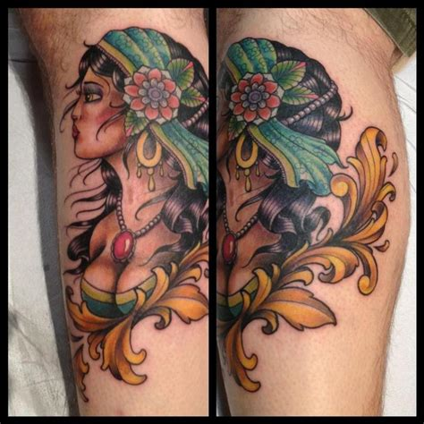 gypsy lady tattoo designs by jes strickler tattoonow