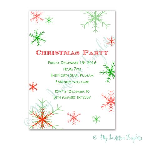 christmas invitation templates diy christmas invitation
