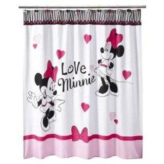 minnie mouse shower curtain hooks disney mickey mouse shower curtain vinyl red black new on