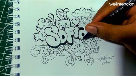 el doodle de hoy en como hacer tu nombre en doodle sofia falta poco