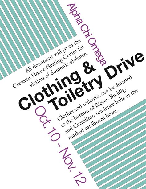 alpha chi clothing drive flyer by iownthis on deviantart