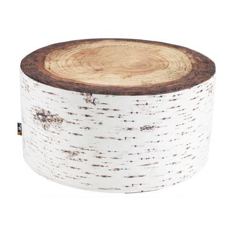 table de en bois table basse contemporaine rondin de bois de bouleau merowings