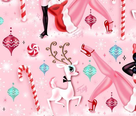 pin up pattern fabric christmas pin up doll large fabric miss fluff