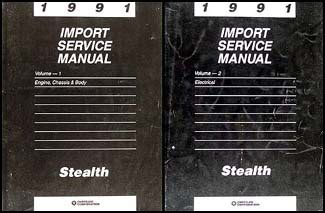 dodge stealth 1991 service repair manual 1991 stealth repair shop manual original 2 volume set
