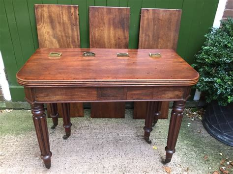 Early C19th George Iv Period Metamorphic Mahogany Wilkinsons Dining Tables