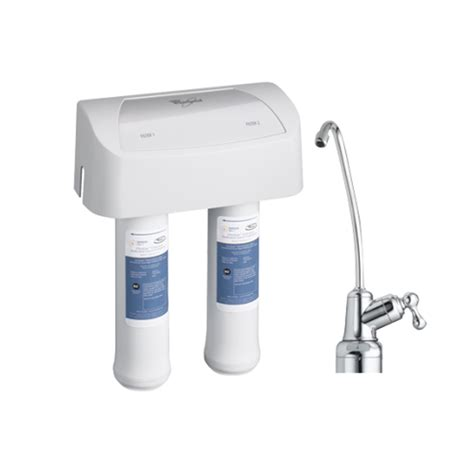 whirlpool under sink water filter whirlpool whed20 2 stage undersink water filtration system