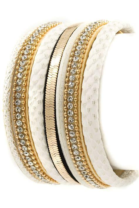 faux leather rhinestone wrap bracelet bracelets