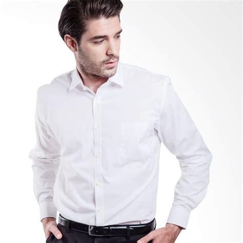 Kemeja Slim Fit Demian White jual manly fiedler slim fit plain white kemeja pria