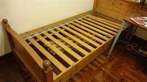 ikea wood bed frame ikea lade wood brown single bed frame secondhand hk
