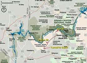 grand falls arizona map havasupai indian reservation grand national park