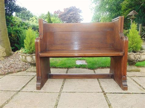 oak pew bench small victorian oak pew bench hall seat antiques atlas