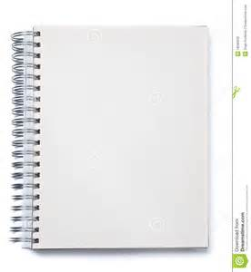 blank spiral notebook stock photography image 18585942