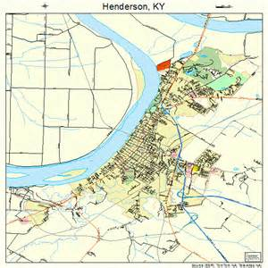 map of henderson henderson kentucky map 2135866