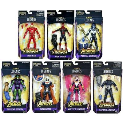 marvel figure 6 set infinity war marvel legends 6 inch figures wave 1