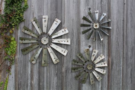 rustic metal farm country windmill wall barn decor