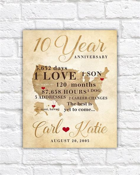 Wedding Anniversary Year 10 by 17 Best Ideas About 10th Anniversary Gifts On