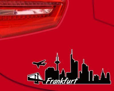 Sticker Drucken Frankfurt frankfurt skyline aufkleber sticker autoaufkleber city