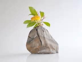 vase rock vase shale rock vase flower