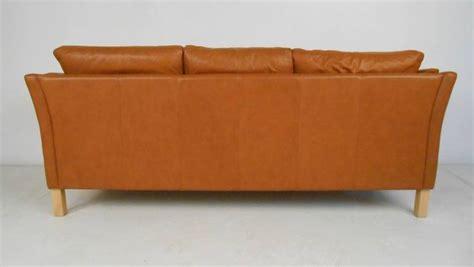 Scandinavian Leather Sofa Classic Scandinavian Style Leather Sofa At 1stdibs