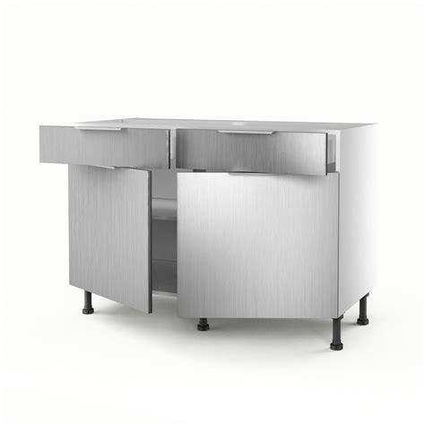 Exceptionnel Meuble De Jardin Leroy Merlin #8: meuble-de-cuisine-bas-decor-aluminium-2-portes-2-tiroirs-stil-h-70xl-120xp-56cm.jpg