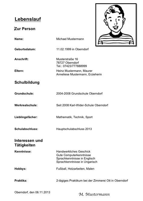 Lebenslauf Muster Vorlage Schüler Lebenslauf Muster Praktikum Sch 252 Ler Yournjwebmaster