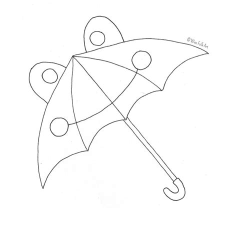 umbrella pattern to color froggie umbrella coloring page wee folk art