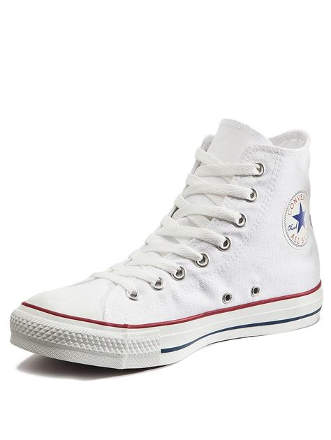 converse chuck all hi top plimsolls white