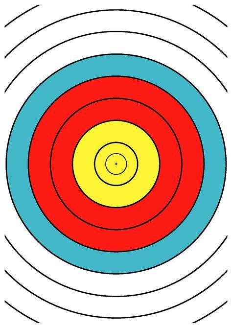 printable targets a4 file wa 40 cm archery target center drawing dina4 pdf