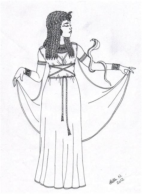 cleopatra coloring pages deviantart more like queen