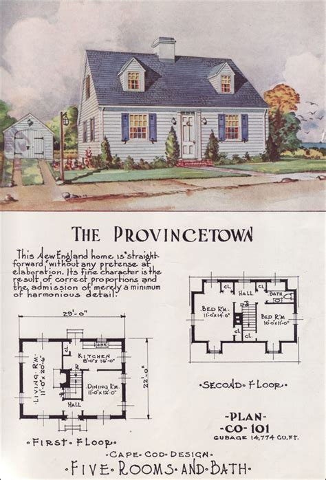 1950s house plans tiny cape cod center hall mid century cottage style